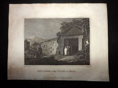 Blomfield 1807 Antique Print. Sepulchres of the Judges of Israel